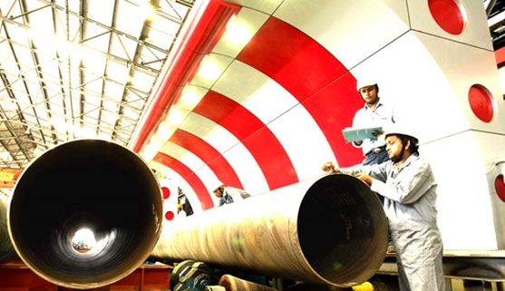 Inspection of SAW Line Pipes by QA Engineers